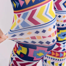 Load image into Gallery viewer, Geometric Colorful Print Leggings - xikeoo
