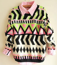 Load image into Gallery viewer, Totem Geometry Ladies Sweaters & Cardigans For Big Sale!- xikeoo.com