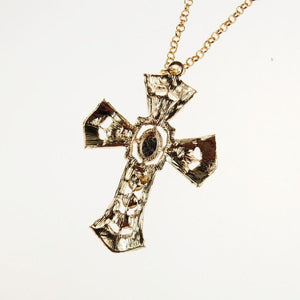 New Diamond Cross Sweater Necklace - xikeoo