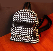 Load image into Gallery viewer, Unqiue Weave Glossy Grid Fashion Backpacks For Big Sale!- xikeoo.com