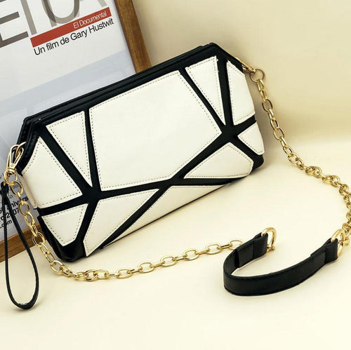 Multifunction Splice Fashion Chain  Shoulder Bag - xikeoo