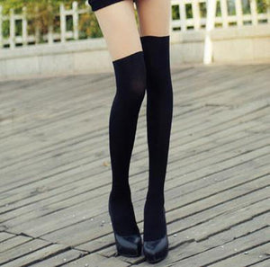Sexy Suspenders Bowknot Skin Upper Stitching Pantyhose/Stockings For Big Sale!- xikeoo.com