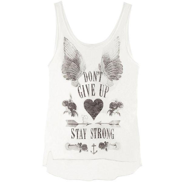 Angle Wings Painted Printing Round Neck Vest - cutespree
