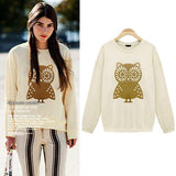Adorable Owl Thick Sweaters Tops - cutespree