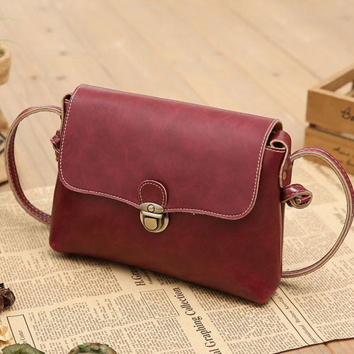 Fashion Mini Leather Shoulder Bag - xikeoo