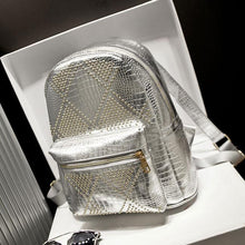 Load image into Gallery viewer, Rivet Punk Glossy Retro College Backpacks - xikeoo