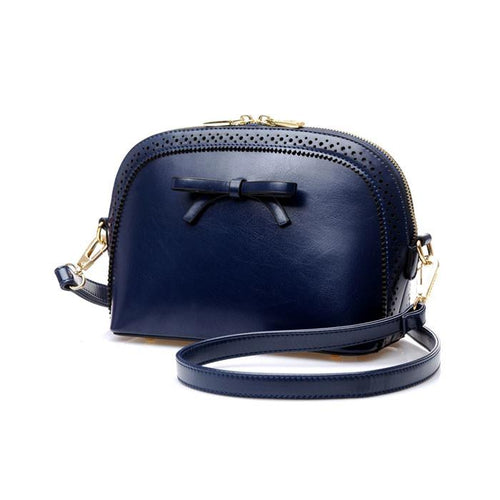 New Fashion Retro Bow Hollow Small Shell Shoulder Bags - xikeoo