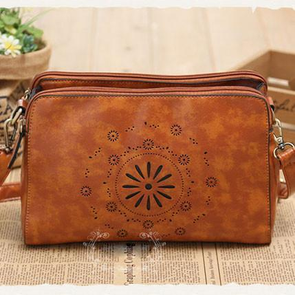 Nice Hollow Out Flower Original Fresh Retro Shoulder Bag - xikeoo