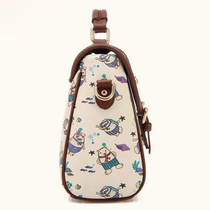 Pretty School Cartoon Print Shoulder Bag - xikeoo