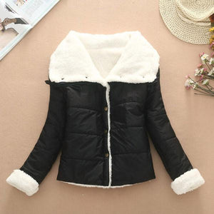 Warm Wool Cotton-padded Jacket Short Coat For Big Sale!- xikeoo.com