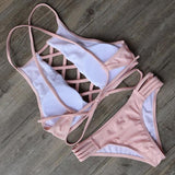 Fashion Pink  Nice Bandge Swimsuit Bikini - cutespree
