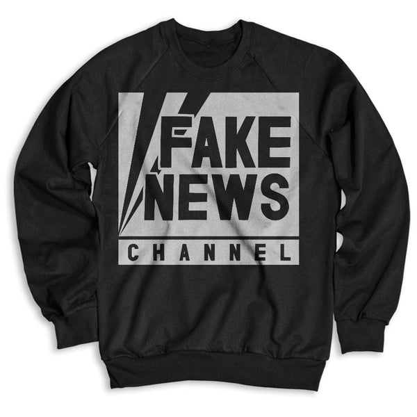 Fake News Channel / Unisex Crew Neck Sweatshirt