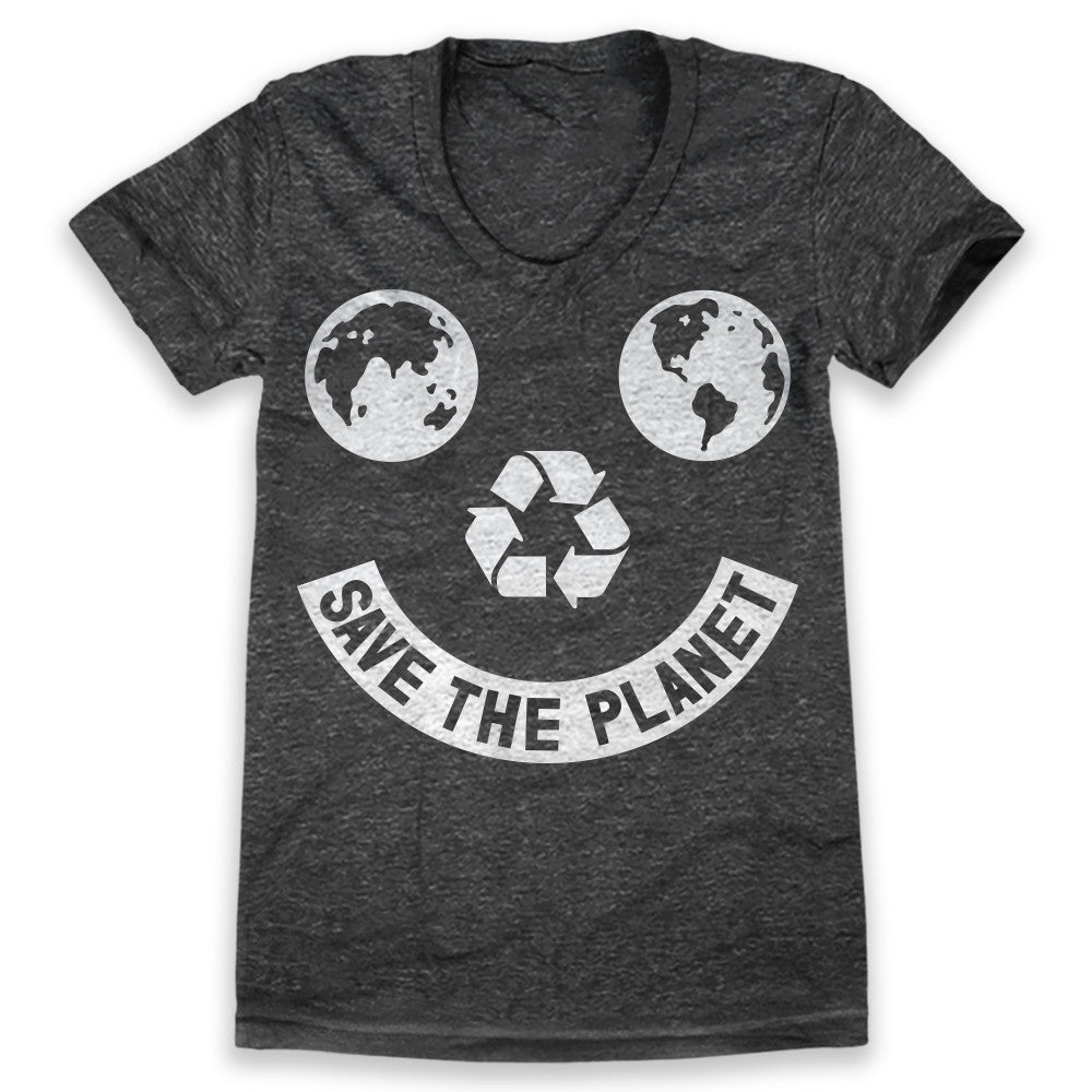 Save The Planet Smiley / Womens