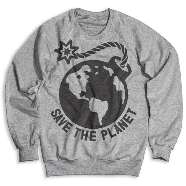 Earth Bomb / Unisex Crew Neck Sweatshirt