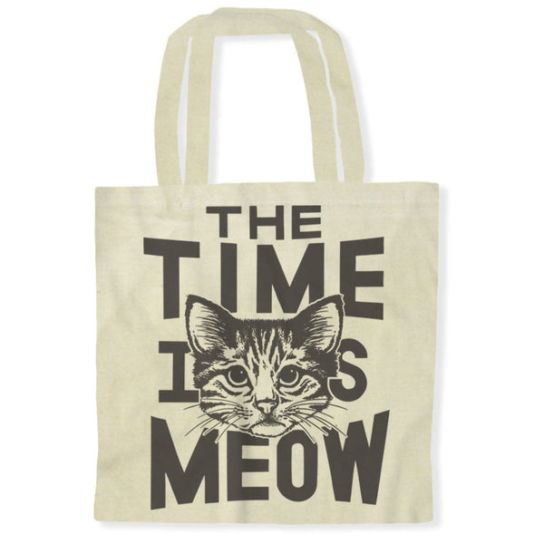 The Time Is Meow / Tote Bags