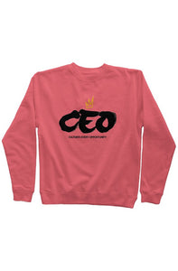 CEO Crew Neck Sweater Pink