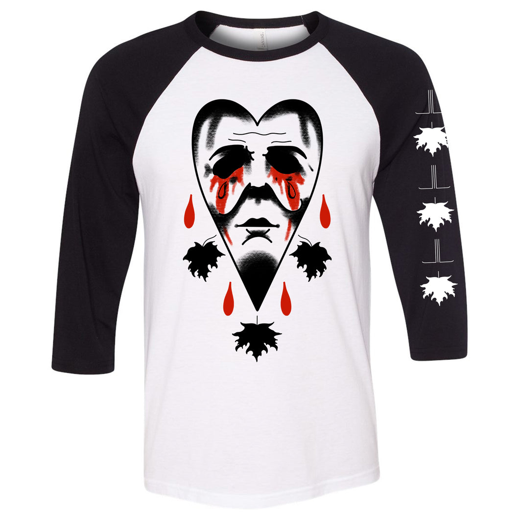 Crying Heart Halloween Baseball Shirt - Last Light Apparel