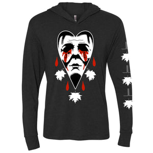 Crying Heart Halloween Slim Hoodie - Last Light Apparel