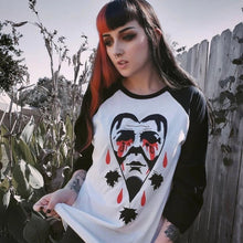 Load image into Gallery viewer, Crying Heart Halloween Baseball Shirt - Last Light Apparel