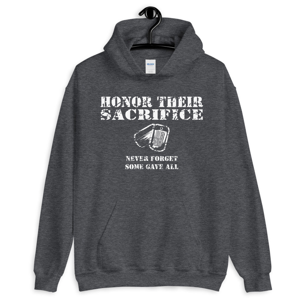 "Unisex Hoodie ""Honor Their Sacrifice"""