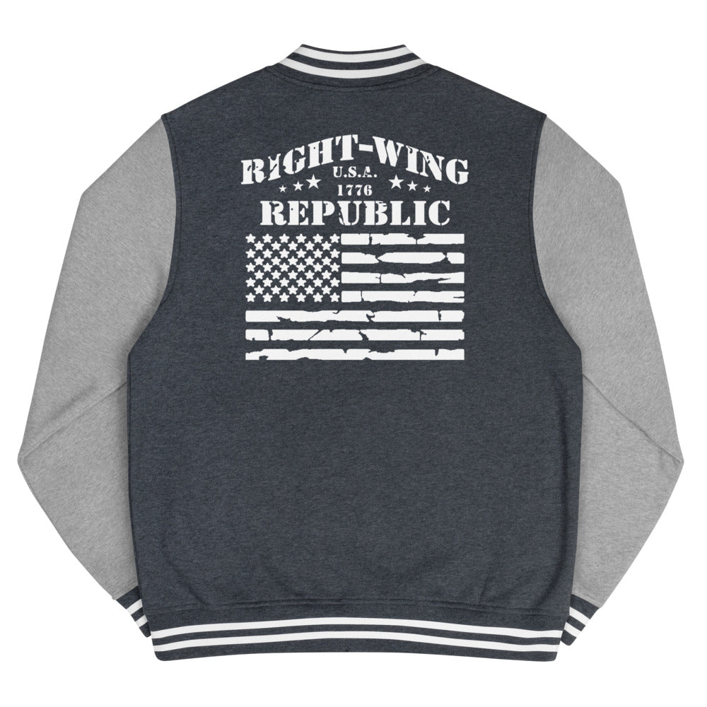 "Men's Letterman Jacket ""Right-Wing Republic"""