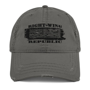 "Distressed Dad Hat ""Right-Wing Republic"""