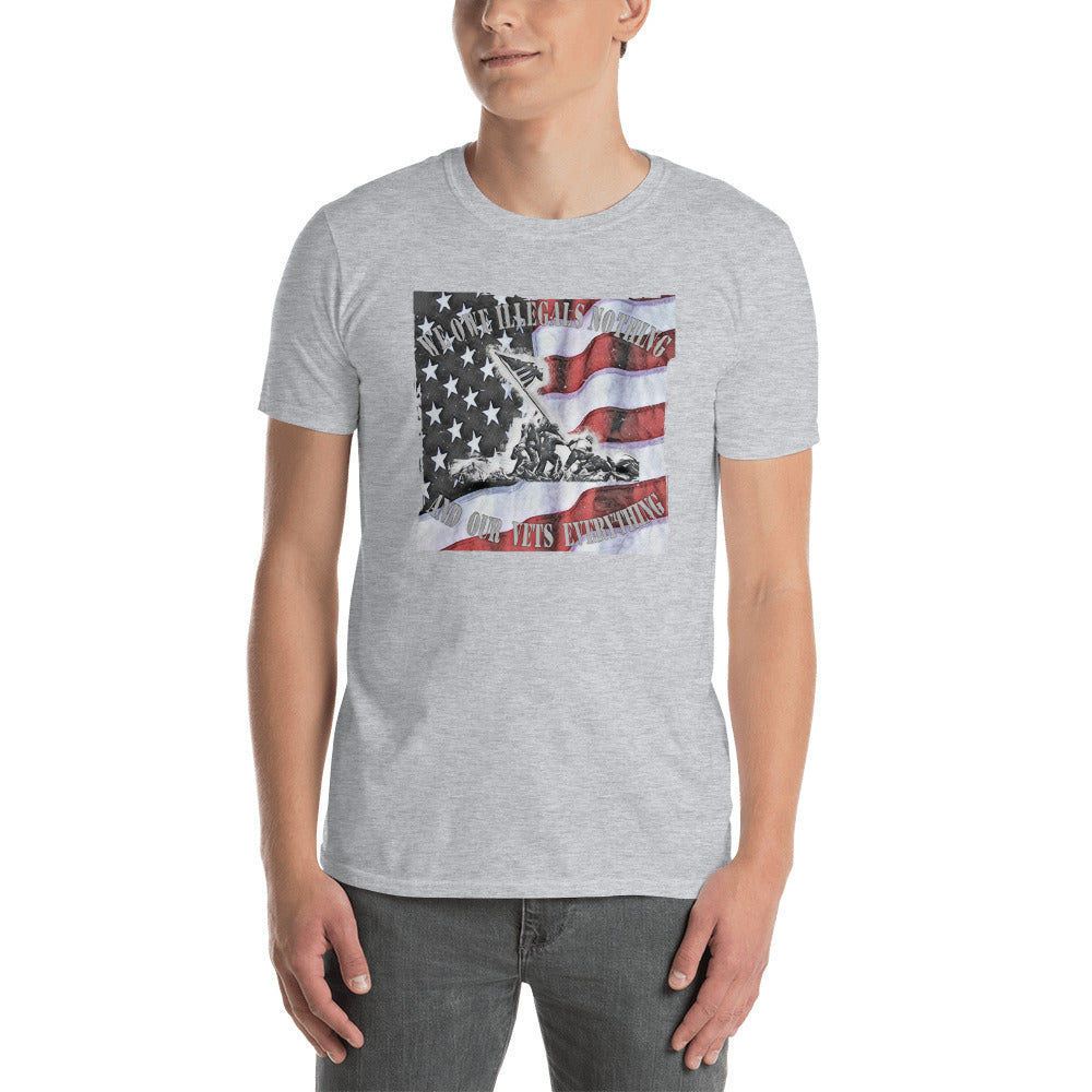 "Men's ""We Owe Vets Everything"" Gray T"