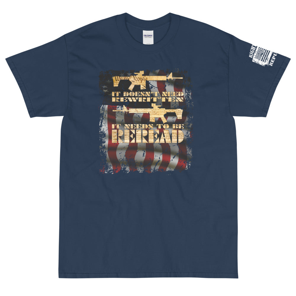 "Unisex ""Reread the Constitution"" Premium T"