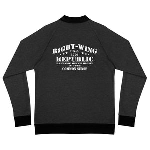 "Bomber Jacket ""Right-Wing Republic: Common Sense"""