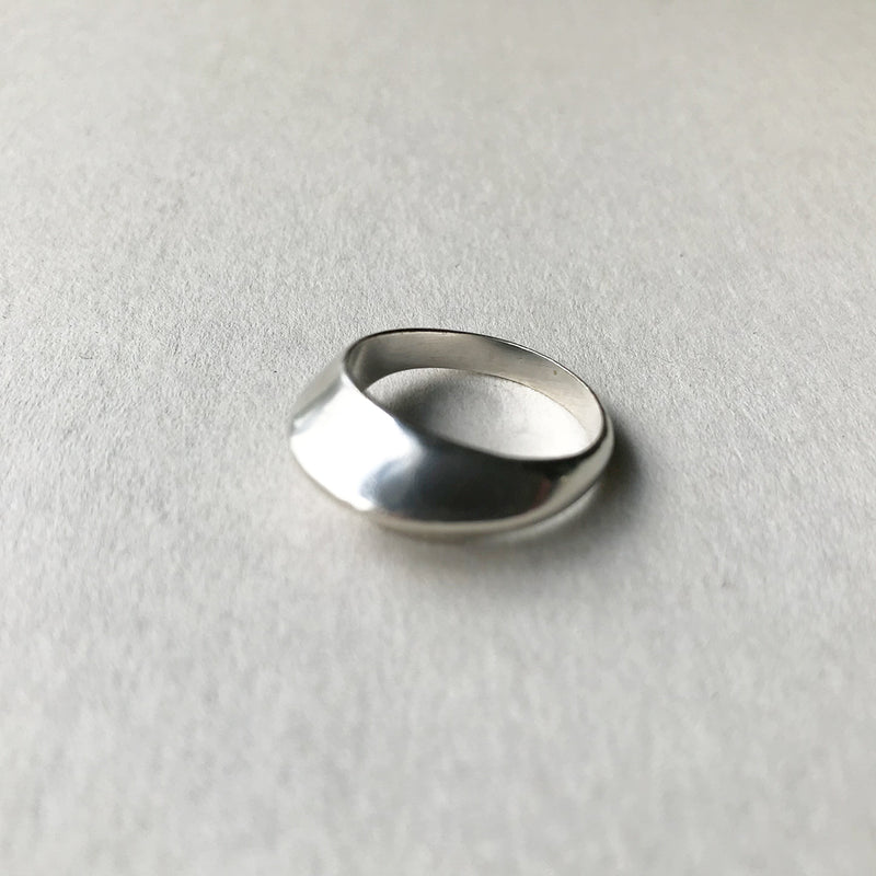 VINTAGE STERLING MODERNIST RINGS