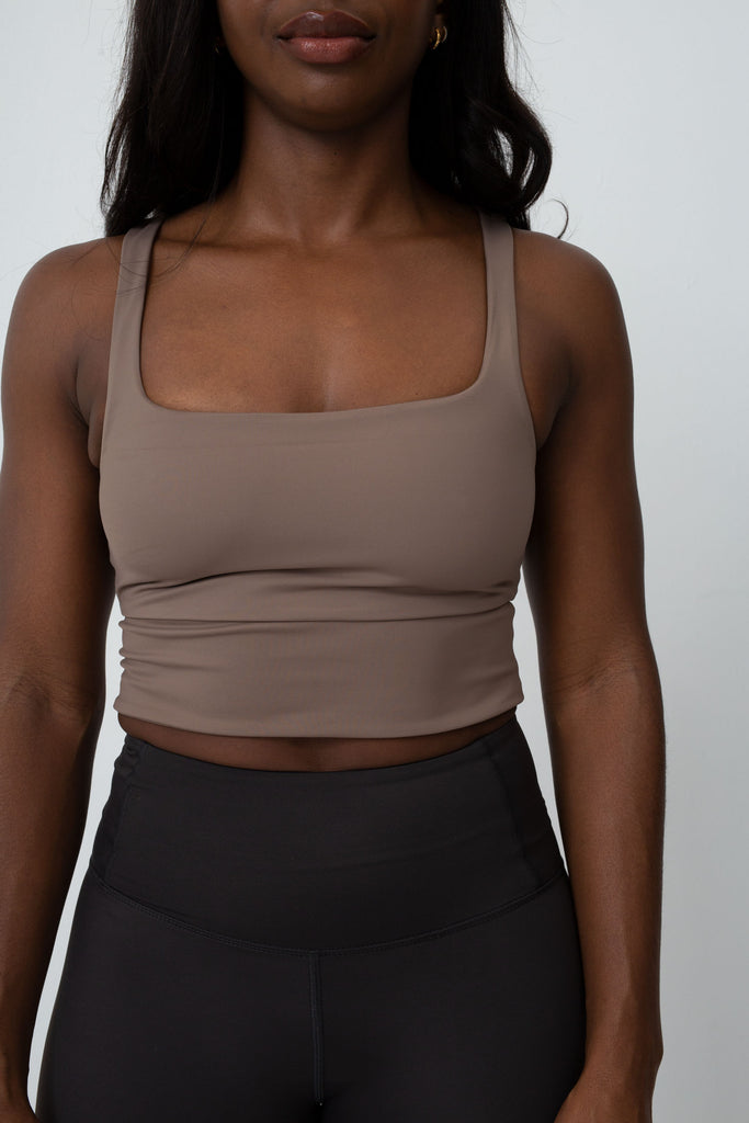 Bea Active Top Taupe