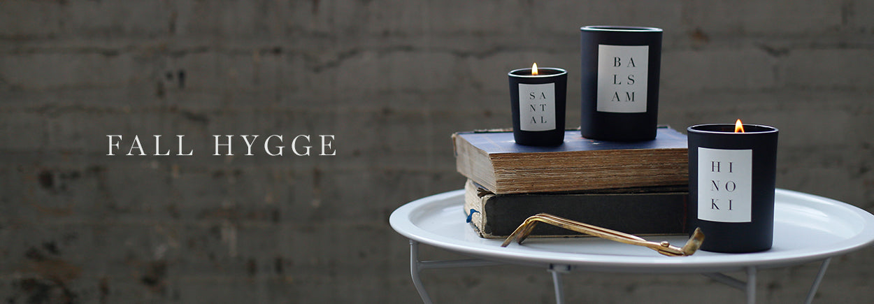 fall hygge candles