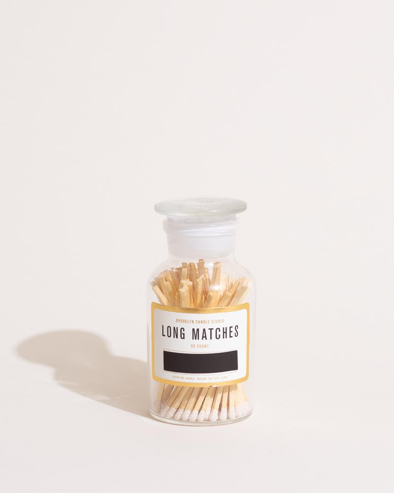 Apothecary Match Bottle - White Accessories Brooklyn Candle Studio