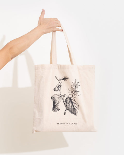 Botanical Cotton Market Tote Accessories Brooklyn Candle Studio
