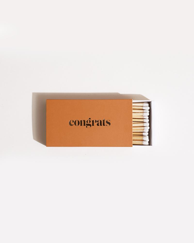 CONGRATS XL Statement Matches Accessories Brooklyn Candle Studio
