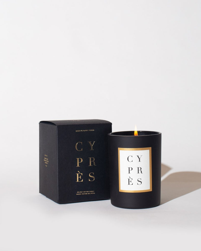 CYPRÈS Holiday Edition Noir Candle Limited Edition Brooklyn Candle Studio