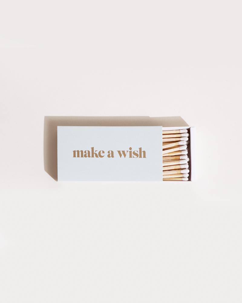 MAKE A WISH XL Statement Matches Accessories Brooklyn Candle Studio