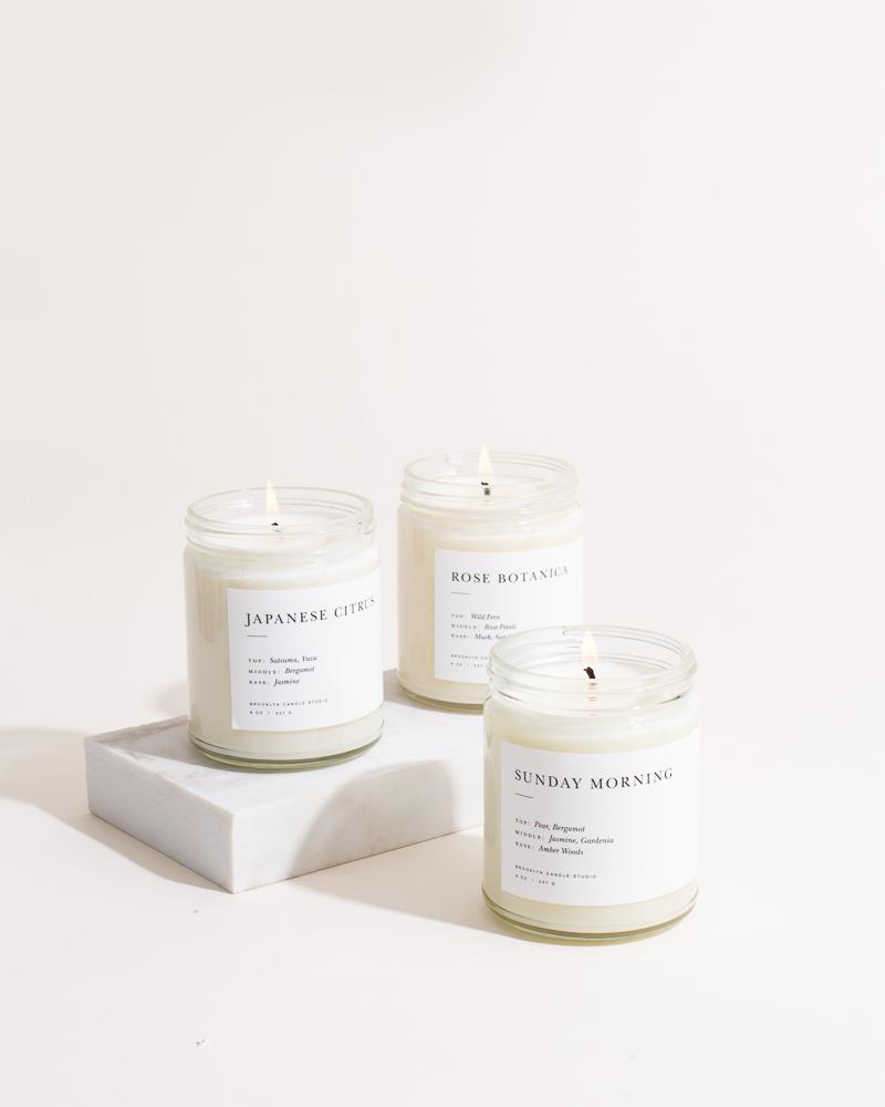 Pick 3 Minimalist Candles ($72 Value) Minimalist Brooklyn Candle Studio