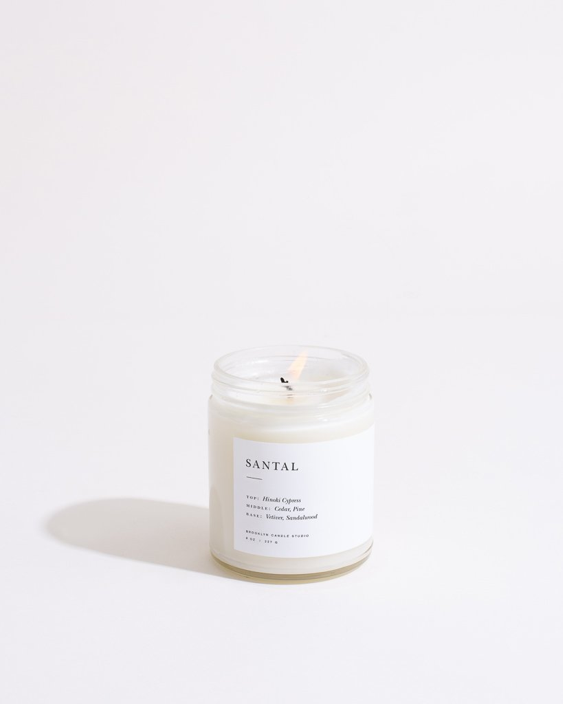 Santal Candle Minimalist Brooklyn Candle Studio