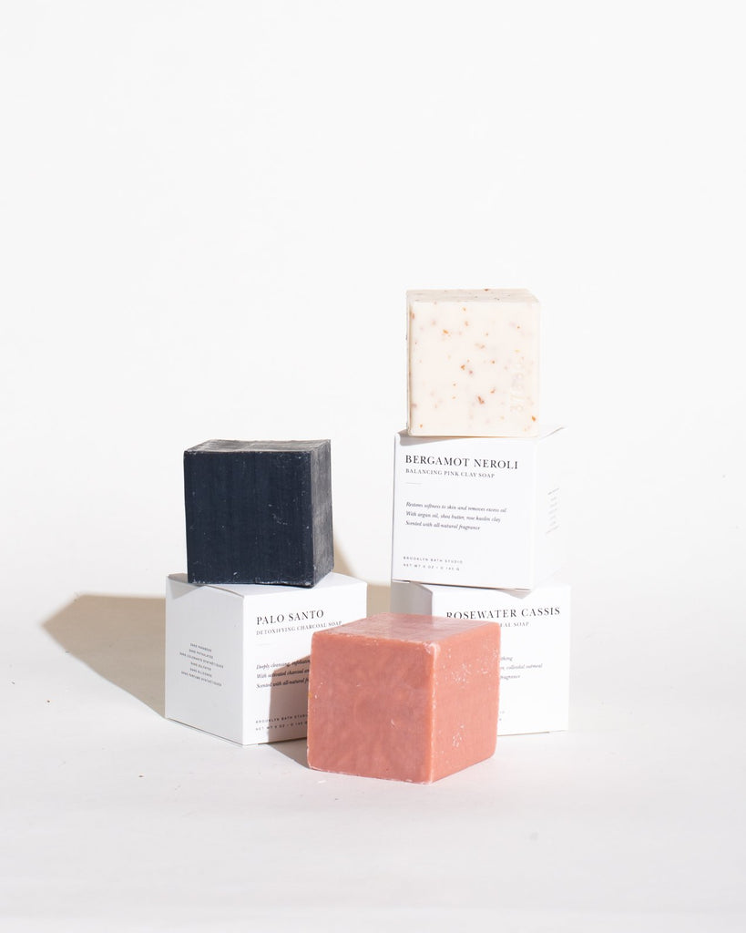 Soap Bundle: Rosewater Cassis, Palo Santo, Bergamot Neroli Soap Brooklyn Bath Studio