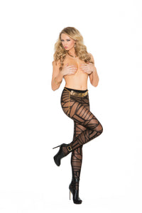 Sheer Pantyhose With Geometric Pattern