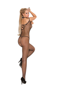 Fishnet Criss Cross Bodystocking