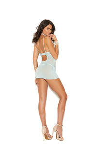 Mesh and Eyelash Lace Babydoll with matching G-string