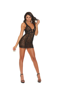 Eyelash lace, Double Band Empire Waist Chemise