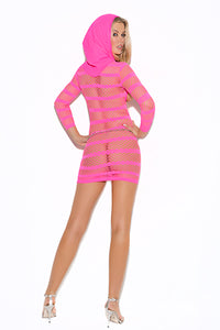 Vivace Cupless Hooded Mini Dress