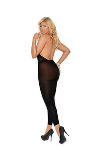 Vivace Lace and Opaque Halter Neck