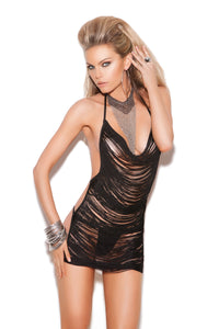 Vivace Backless Fringe Mini Dress
