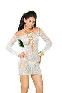 Vivace Long Sleeve Lace Mini Dress