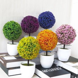 Colourful Round Flower Pot