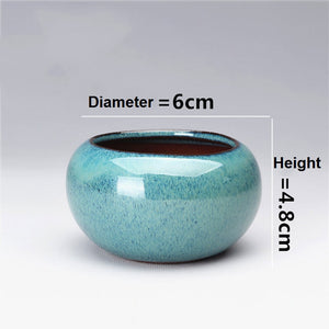 Round Ceramics Bonsai Flower Pot